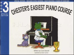 Chester's Easiest Piano Course 3 Sheet Music Book 3 Méthode Apprendre à Jouer-afficher Le Titre D'origine 100% D'Origine
