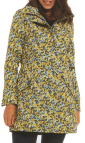Muchachas mujeres impresión nuevo 10-22 Capa de Lluvia Chaqueta Impermeable Capucha Oculta Damas