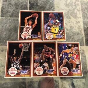 UNDERVALUED 1990 NBA Basketball Starting Lineups SLU CARDS David Robinson Malone