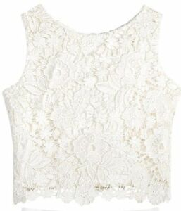 26769e3ea767c7  170 PINK AND VIOLET WHITE LACE FLORAL EMBROIDERED SLEEVELESS CROP ...