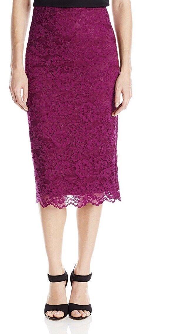 NICOLE MILLER Corded Floral Lace Pencil Skirt Größe 2  275