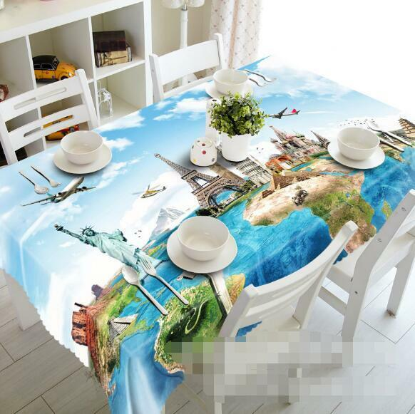 3D Scenery 55 Tablecloth Table Cover Cloth Birthday Party Event AJ WALLPAPER AU
