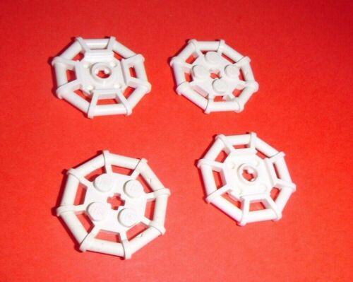4 Octagonale Gitterplatten 2x2 in weiß aus 6280 7739 4210 6211 Lego 30033