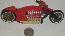 "Diecast Long Red Racing Motorcycle 5.5"" USED - NICE (See Photo)"