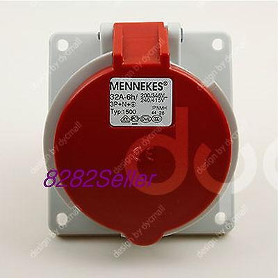 IP44 400V 32A 3P+E Panel mounted receptacle socket MENNEKES TYP 1399 NO.1399