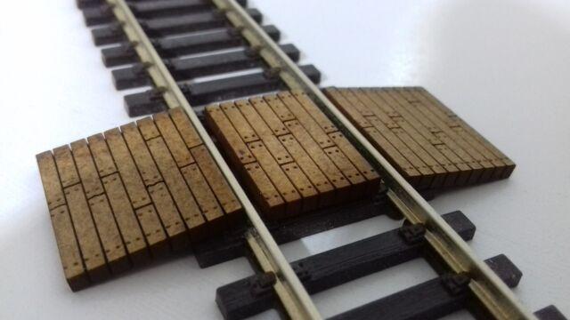 Laser Cut OO Gauge Railway Track Foot or Barrow Crossing Pack of 5 Crossings