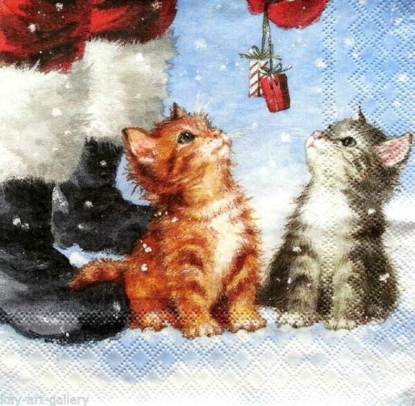 PAPER TABLE NAPKINS FOR CRAFT VINTAGE CAT ANIMAL DECOUPAGE TEA PARTIES 250