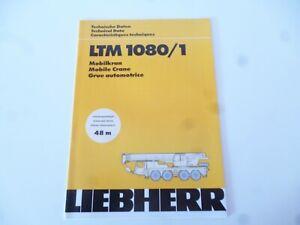 LIEBHERR LTM 1080/1 MOBILE CRANE 14 PAGES BROCHURE/BOOKLET/CATALOG/CATALOGUE