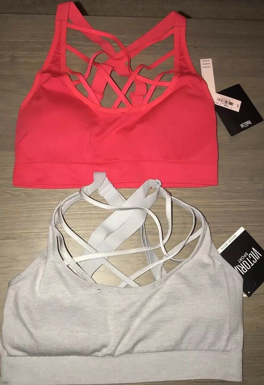 Victoria's Secret PINK ULTIMATE Sports Bras 2- NWT - Size Medium