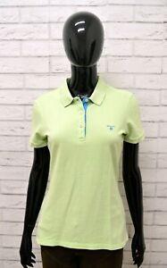 Polo-GANT-Donna-Taglia-Size-M-Maglia-Maglietta-Shirt-Woman-Cotone-Manica-Corta