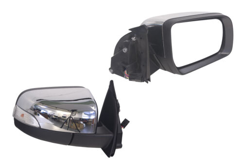 FORD RANGER PX 9//2011-ON RIGHT HAND SIDE ELECTRIC DOOR MIRROR CHROME AUTO FOLD