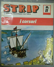 (PRL) I CORSARI PIRATI TRASFERELLO 1970 TOY STRIP FUMETTO '70 COMIC ART NAVY NOS