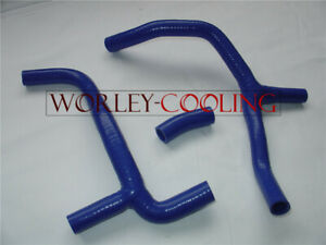 Silicone-RADIATOR-HOSE-Y-KIT-FOR-Honda-CRF450-CRF450R-2012-12-CRF-450-BLUE-NEW