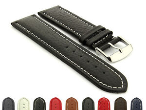 36a1072a1bc Extra Long Genuine Leather Watch Strap Band Freiburg 18 20 22 24 26 ...