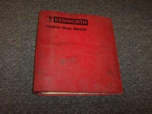 1984 1985 kenworth c500b c500 l700 k100 w900a w900 shop service rh ebay com 2009 kenworth w900 owners manual 2009 kenworth w900 owners manual