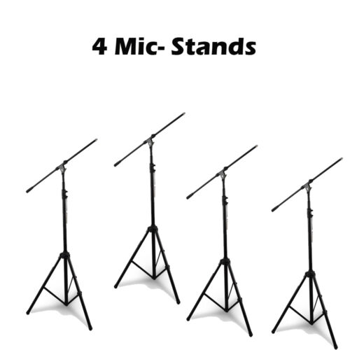 Pyle PMKS56 HeavyDuty Tripod Microphone Mic Stand Height & Boom Adjustable QTY 4