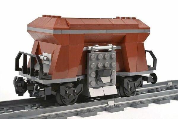 Vente Professionnelle Custom City Train Wagon-trémie Marron Transport Fabriqué Avec Lego Parts 60098