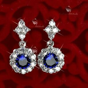 18k-white-gold-gf-made-with-SWAROVSKI-crystal-stud-dangle-earrings-round-flower