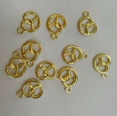 70pcs Golden Color Alloy Boat Anchor Hook Pendant Charms Jewelry Craft 15*13*2mm