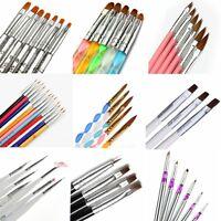 Nail Art UV Gel Polish Design Dot Painting Detailing Pen Brushes Tool Set Beauty