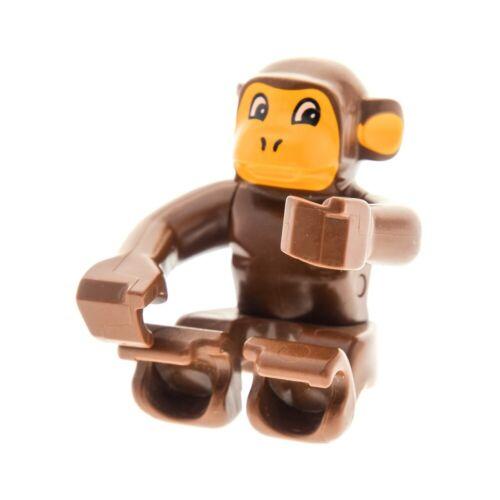 1x Lego Duplo Animal Monkey Braun Orange Zoo Circus Chimpanzee 2864 2866 2281px1