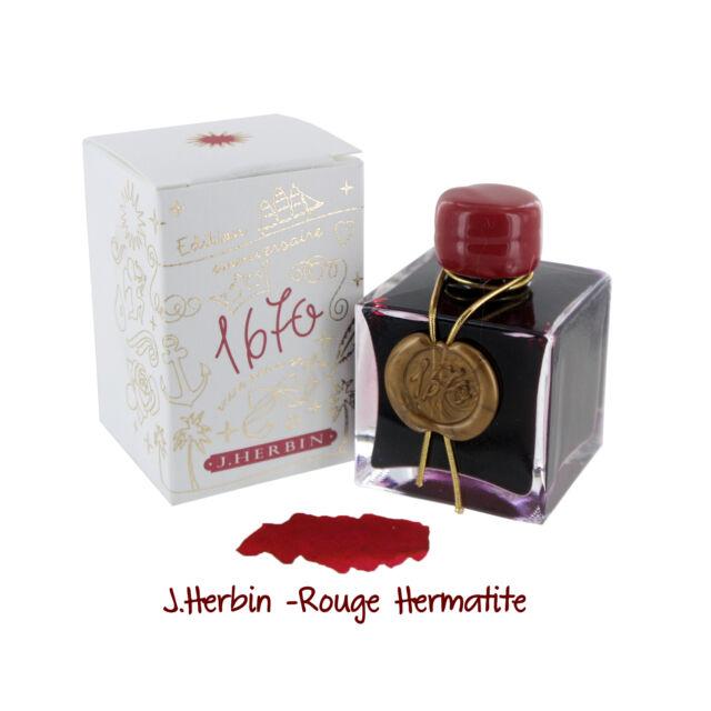 """J.Herbin 1670 Anniversary Bottled Ink, 50ml, Rouge Hermatite (H150-26)"""