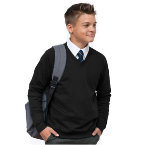 Boys Girls Unisex Kids Burgundy School Jumper