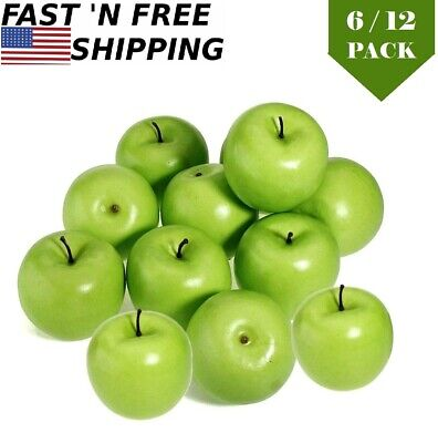 Green Large Artificial Apple Decor Fake Fruit Lifelike Theater Prop Home Decor Ebay