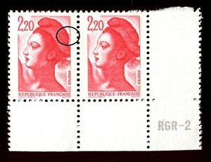 TIMBRE-VARIETES-LIBERTE-2-20-ROUGE-N-Yvert-2376-L42B