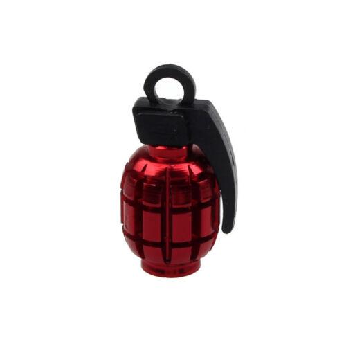 2Pcs Grenade Alloy Valve Caps Dust Covers Bike MTB BMX Car Tyre Schrader 7Colors