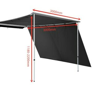 3MX3M Car Side Roof Rack Awning+Extension Camping Trailer ...