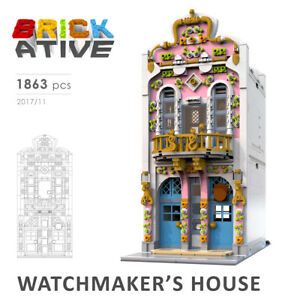 Lego-Custom-Modular-Building-WATCHMAKER-039-S-HOUSE-INSTRUCTIONS-ONLY-instruction