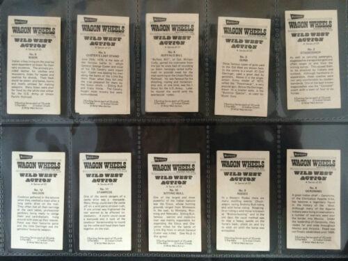 BURTON/'S WAGON WHEELS *PLEASE SELECT CARD* G WILD WEST ACTION 1972