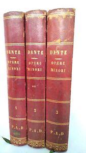 Opere-minori-di-Dante-Alighieri-Firenze-Barbera-1861-tre-volumi