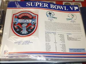 MIAMI DOLPHINS DALLAS COWBOYS SUPER BOWL 6 FOOTBALL WILLABEE AND WARD PATCH