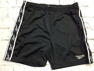 REEBOK Shorts True Vintage 90s Logo Sports Running Athletics Rave Black Noir | eBay