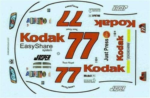 Winscals #77 Kodak 2005-Travis Kvapil Nascar decal