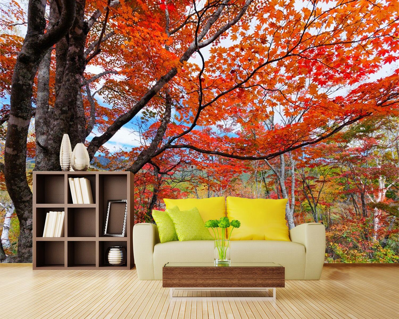 3D rot Maple Leaf Tree 3134 Wall Paper Wall Print Decal Wall AJ WALLPAPER CA