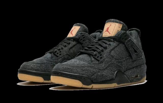 Nike Air Jordan IV 4 Retro Levi's NRG Black GS Grade School Size
