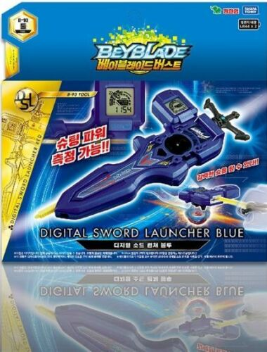 BeyBlade Burst B-93 Digital Sword Launcher BLU Takara Original Launcher Tracking