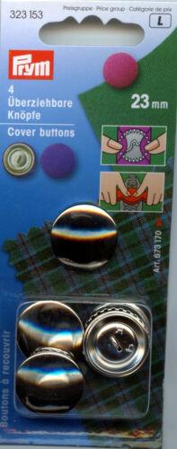 11mm Elegir Talla /& Tamaño Pk 23mm 29mm y 38mmm 15mm Prym Botones De Cubierta De Metal 19mm