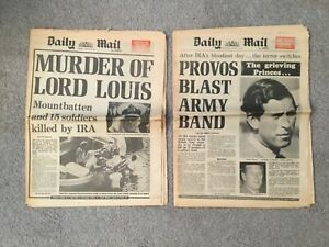 Daily Mail (28 and 29 August 1979) Lord Mountbatten Murder and ...