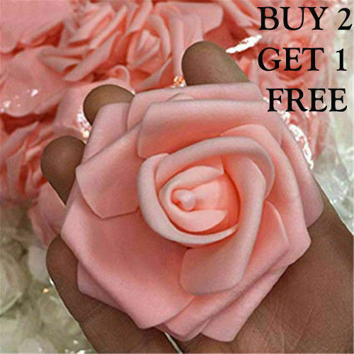 Artificiel bon teint mousse Roses 6 cm-Mariage en Boutonnière Bouquet Fleurs NOUVEAU UK