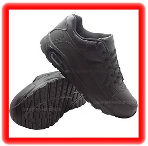 MENS NEW BLACK  AIR  running gym casual  sport jogging TRAINER SHOES  SIZE 13/47