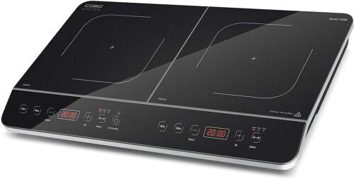Caso 3500 Touch double induction plaque de cuisson avec Timer /& affichage numérique noir