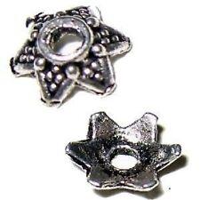 50 pieces Tibetan Silver Alloy Bead Caps - 7mm - A0425