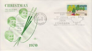 CANADA-530-15-CHRISTMAS-1970-ON-ROSE-CRAFT-CACHET-FIRST-DAY-COVER