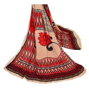 Sanskriti-Vintage-Dupatta-Long-Stole-Cotton-Peach-Hijab-Printed-Veil-Scarves