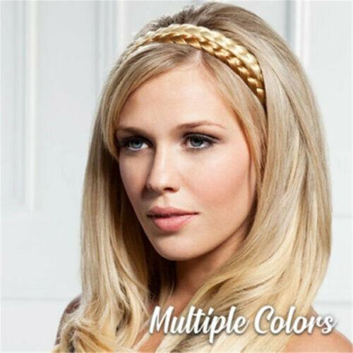 Ladies Braided Synthetic Plait Plaited Elastic Hair Band Headband