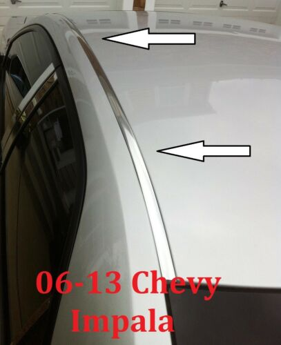 For 2006-2013 CHEVY IMPALA CHROME ROOF TOP TRIM MOLDING KIT